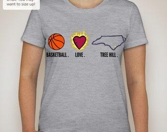 Basketball. Love. Tree Hill. Tee - One Tree Hill