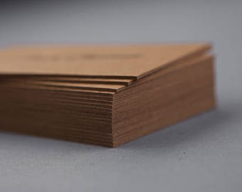Thick Brown Kraft - 250 Business Cards