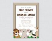 Safari Baby Shower Invita...