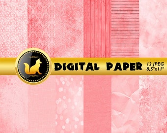 Girls background,Hot Pink Paper,Pink Background,Fuchsia Background,Digital Paper,Pink wood Pattern,Pink grunge pattern,shabby chic paper