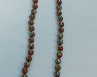 Cloisonne Beaded Necklace.  (569)