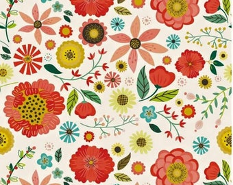 Roots & wings - cream - floral fabric