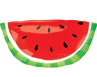 "Huge 32"" Watermelon balloon. Watermelon party. One in a melon balloon. one in a melon. bbq. kids party. beach party. watermelon lover. circu"