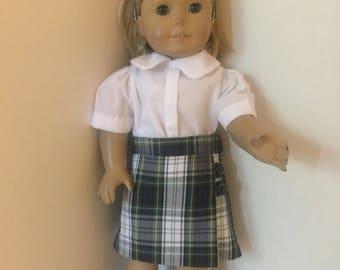 LE doll skirt plaid 80