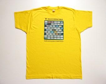 Vintage 80's Tee-Shirt US License Plates USA