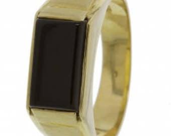 14K golden seal ring