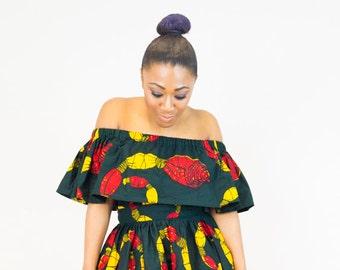 Ankara top, off shoulder top, off the shoulder top,  ankara, ankara print top, ankara dress, african print dress, african print top