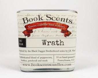 Wrath - Book Inspired Candle - Hand Poured, 10 oz coconut wax container candle
