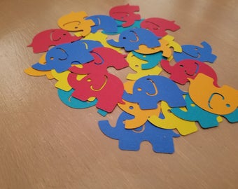 Primary Elephant Confetti