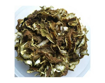 Dried Kaffir Lime Peel/Rind for garnish or ingredient in curry paste 50 g
