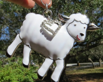LITTLE LAMB Tree Jewelry Christmas Ornament Sheep Lamb