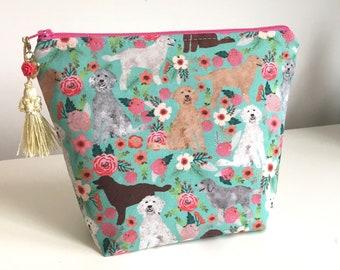 Goldendoodle Makeup Bag Crafters Organizer Project Bag