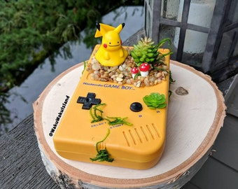 Yellow Nintendo Gameboy Classic Pokemon Succulent Planter Pikachu Ditto