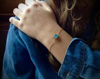 Minimalist Bracelet Light Blue Druzy Bracelet Druzy Bracelet