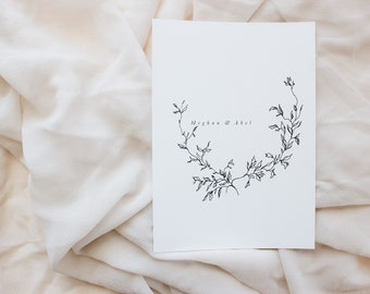 Échantillon de faire-part de mariage, Invitations de mariage / mariage stationnaire