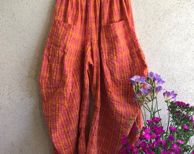 Orange crush one size lagenlook pant