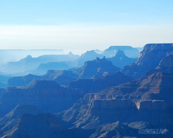 Landscape photograph, Southwest photography, fine art, Arizona, blue, dreamy, nature photo - Grand Canyon at Twilight