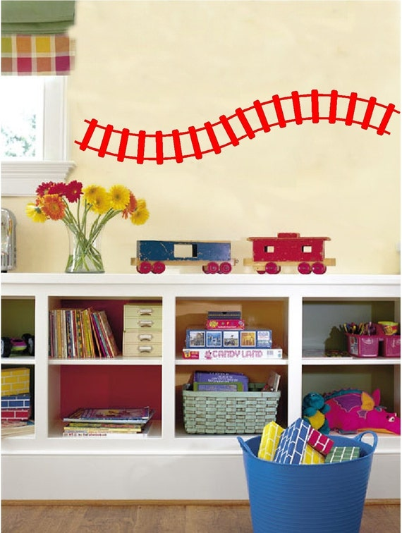 sc 1 st  Etsy & Curved Train Track Wall Decals Removable Wall Stickers