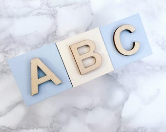 Alphabet Blocks - ABC  |  Painted Wooden Blocks