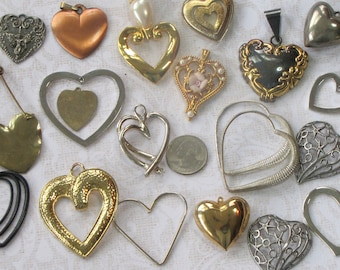 Collection of Vintage Heart Pendants