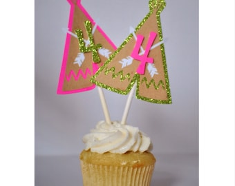 Indian Pow Wow: Cupcake Toppers {12}