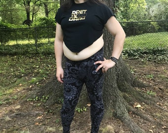 Black and gold Pretty Boi Drag crop top