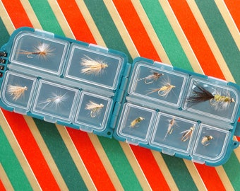 Fishing Flies 12-Pack for fly fishing with pocket fly box, Excellent fisherman's gift for any occasion