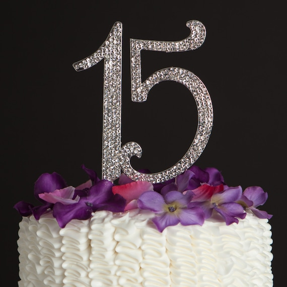 15 Cake Topper 15th Birthday Quinceaera Party Decoration