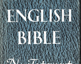 New English Bible, New Testament, hardcover with dust jacket, 1961, very nice