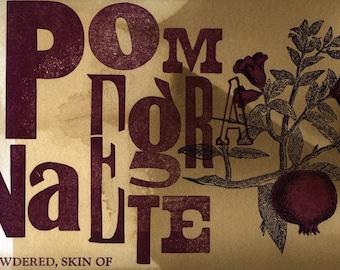 Pomegranate Skin Postcard