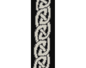 Celtic Knots 12 Peyote Bead Pattern, Bracelet Cuff, Bookmark, Seed Beading Pattern Miyuki Delica Size 11 Beads - PDF Instant Download