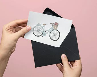 Ciao Bicycle Greeting Card