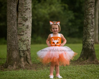 Fox Costume, Fox Halloween Costume, Fox Dress, Girls Fox Costume, Fox Ears, Fox Tail, Fox Tutu Dress, Fox Tutu, Fox Birthday Costume