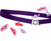 """Large 1"""" purple elas..."""