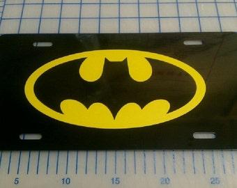 Batman license plate car tag
