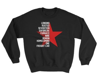 "Bucky Barnes ""Longing Rusted Seventeen"" Ready to Comply Winter Soldier Sweatshirt"