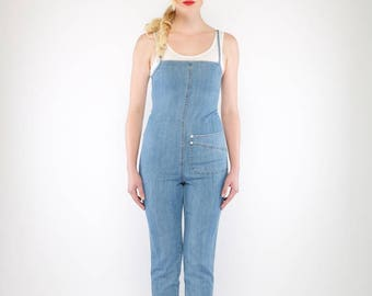 Freeway Denim Jumpsuit (Light Blue)