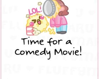 Comedy Movie Reminder Sampler    Planner Stickers, Cute Stickers for Erin Condren (ECLP), Filofax, Kikki K, Etc.    SS27