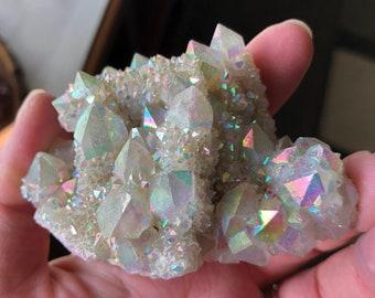 Angel Aura Cluster Angel Aura Spirit Quartz Crystal Angel Aura Quartz Cluster Rainbow Aura Crystal Opal Aura Crystal Aura Crystal A3