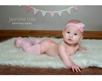 Pink Spring Easter Baby Leg Warmers and Headband Set