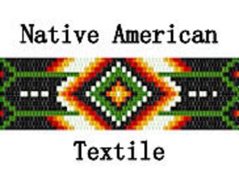 Peyote Pattern Native American Textile Geometric Bracelet Hat Band Belt Blanket Inspired Digital PDF File 2 Drop Peyote