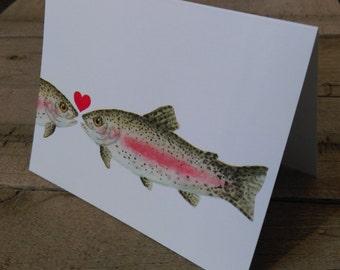Trout Love, Anniversary, Valentine's Day Card