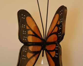 Monarch Butterfly Stained Glass Suncatcher Hand-Painted - Made to Order (MON001)