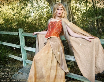 Renaissance Faire Fairy princess queen Gown costume *FREE gift w/ Purchase*