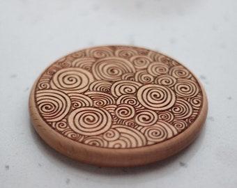 Personalized coasters, Wood coasters, walnut coaster, Drink coasters, Geometric coasters, Art deco, housewarming gift, home decor