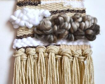 Sale, Wall Weaving, Tapestry, Bohemian Home Decor, Earth Tones, Neutral Color Weaving, Beige Weaving, Wall Hanging, Loom, Boho Decor