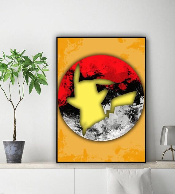 Pikachu inspired alternative poster pikachu poster pokemon