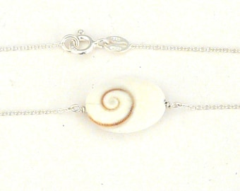 Sterling silver bracelet with Shiva eye
