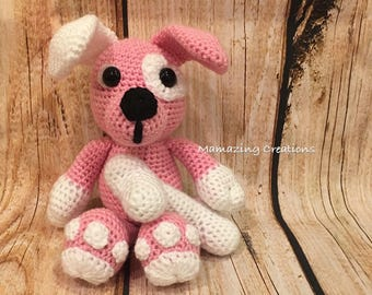 Handmade Crochet Stuffed Big Paws Puppy