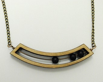 Abacus - Wooden Laser Cut Necklace